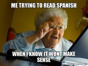 How to read in Spanish